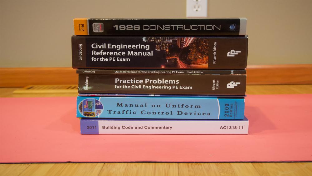 10 EXAM MATERIALS NEEDED FOR THE 8-Hour PE CIVIL CONSTRUCTION EXAM
