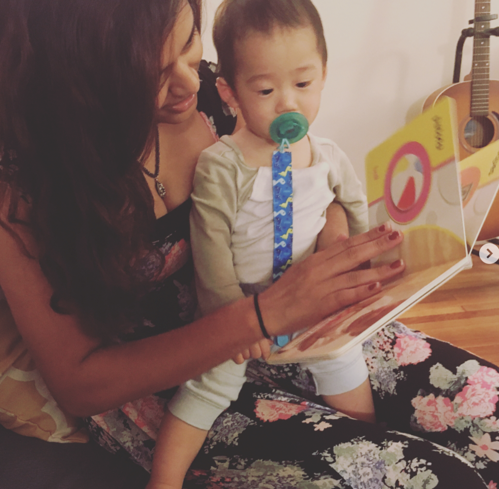 Baby Casper loves to read. It's so important to read to young kids daily. You'll be amazed what they can absorb.