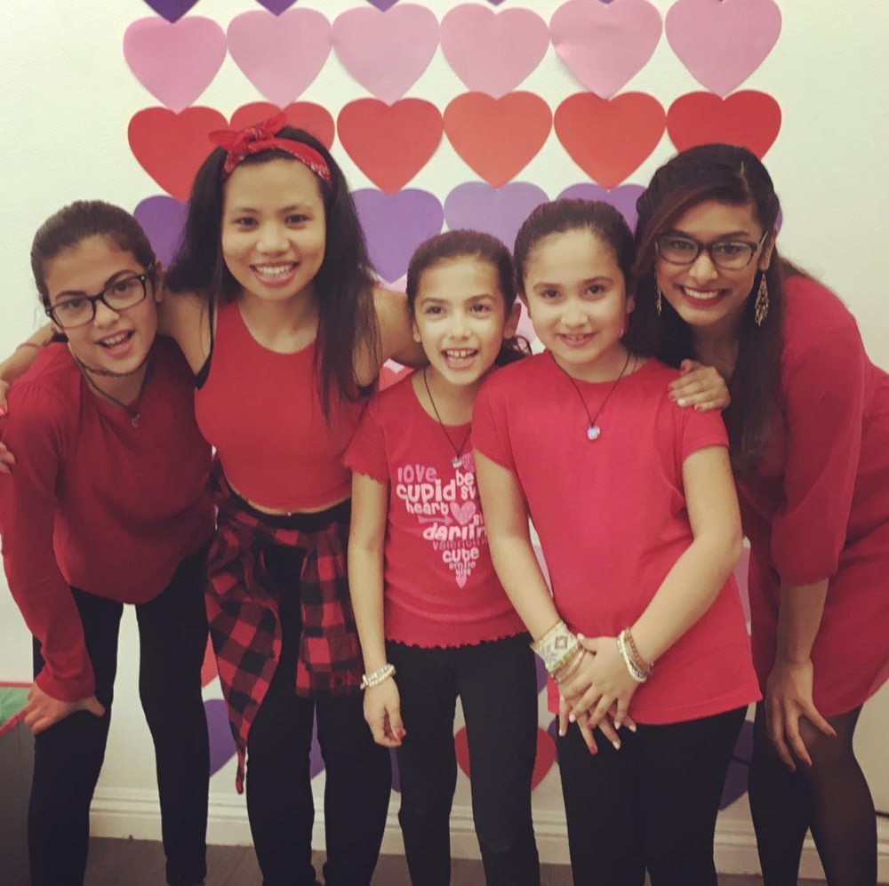 With our Sapphire Kids dance team celebrating Studio Sapphire's 1st birthday on Valentine's Day! We had a blast choreographing an original Bollywood dance!