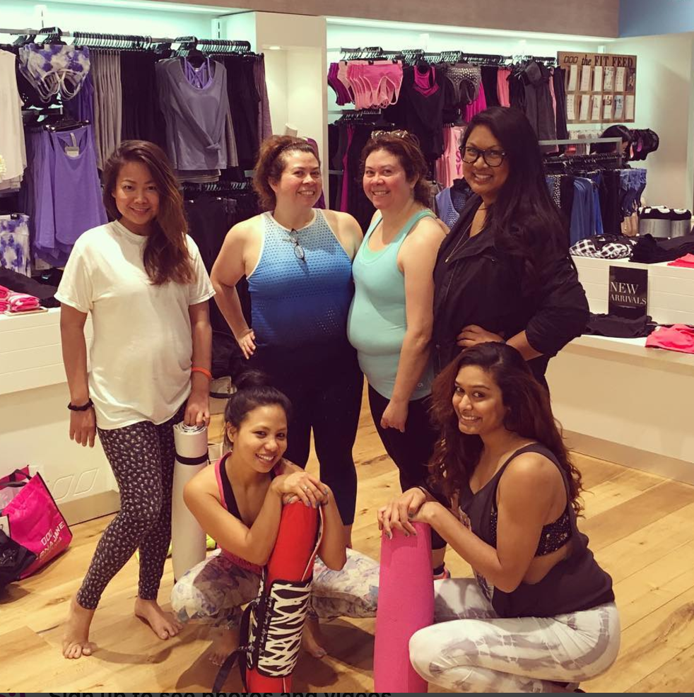 Empowering women through health, fitness, and dance! Studio Sapphire owner Shikha Thapa hosted a fun Zumba and yoga class at Lorna Jane in Arcadia, CA.