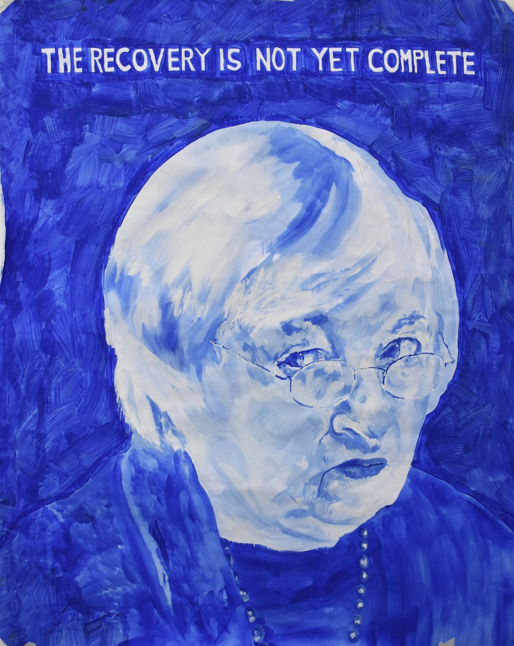 YELLEN  2017. Acrylic on paper. 240cm x 175cm.