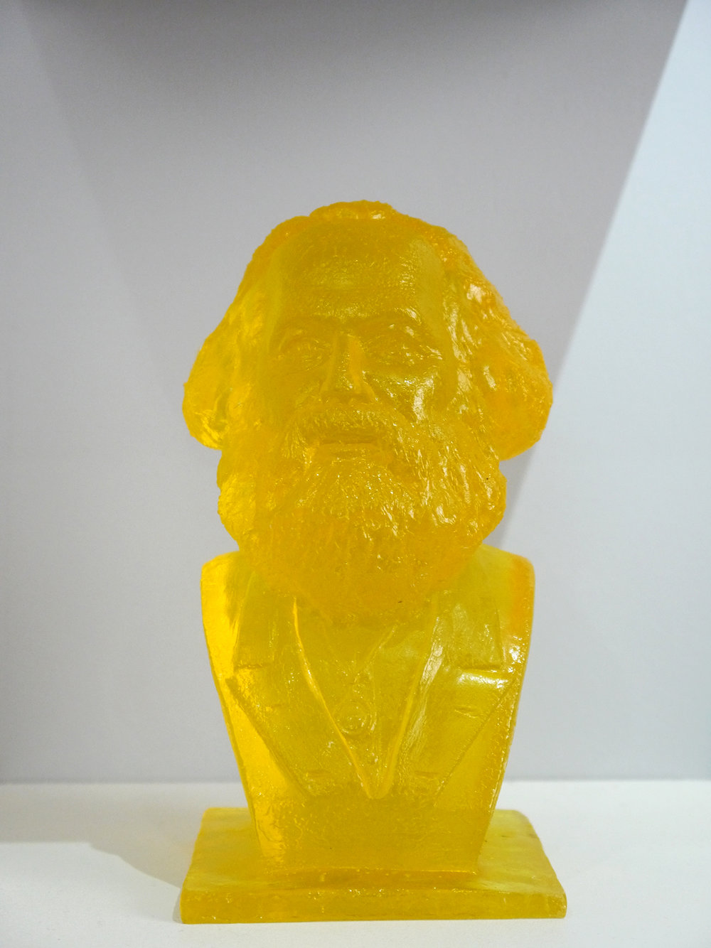 Marx (Yellow) 2014 . Resin. 20cm x 10cm x 10cm