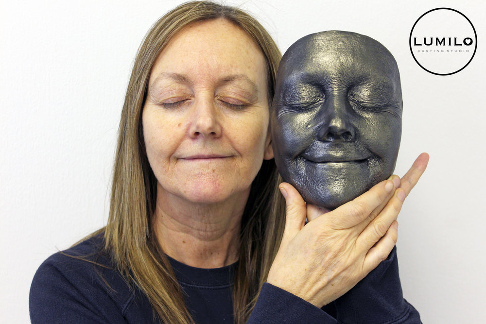 £195 - Face Castings start at £175, for hairline to chin, finished in White Gloss. Our Antique Silver, Gold or Bronze finishes are £195 and have the option of being wall-mountable at no extra cost.