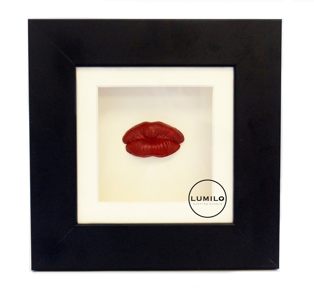 £60 - Kiss Castings are available in a choice of Red, Pink or Purple finish, and include a choice of frame colours and mount options.