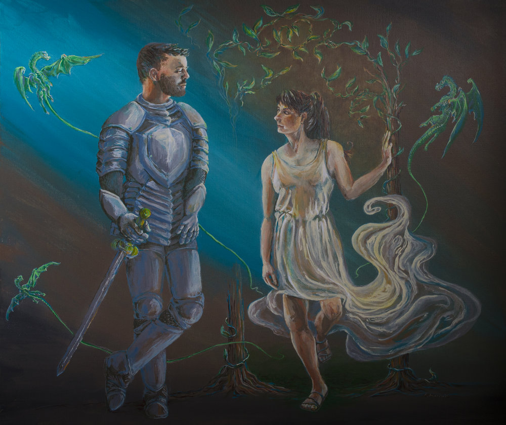 Panted with acrylic paints and the original was gifted for a wedding.  Prints are available for purchase in the  Shop!