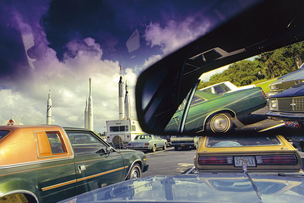 Kennedy Space Center visitors' parking | Estacionamiento para visitantes del Centro Espacial Kennedy