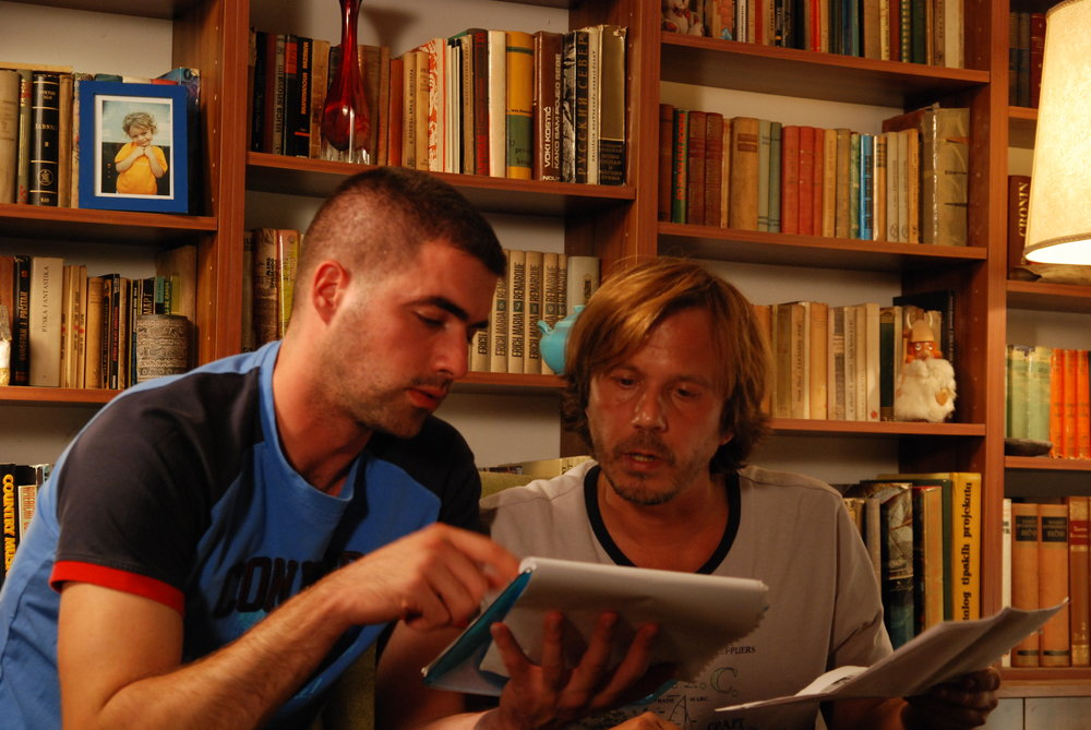 (l-r): Director Srđjan Spasojevic and star Srdjan 'Zika' Todorovic.