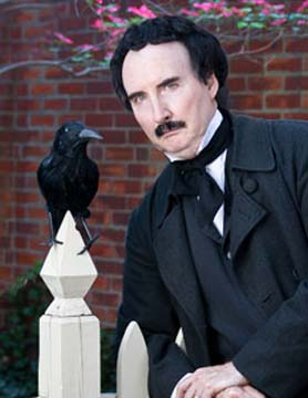"Edgar Allan Poe PORTRAYED BY BOB GLEASON - January 2009 – January 2010 is the bicentennial of Edgar Allan Poe's birth. Writing most of his greatest works while living in Philadelphia, Poe flourished here for more than 6 years. Exposing the inner machinations of the human mind and heart, Bob Gleason's Edgar Allan Poe provides vivid images, terrifying tales, and heart-thumping excitement. But Gleason's portrayal doesn't stop there. He reveals the literary editor and critic determined to mine his mind and profit from his published works. We learn that Poe is considered the inventor of the detective story, providing the reason for the award being dubbed the Edgar. And we discover the all-too-human Poe, the passionate poet, the intense husband, the haunted soul.Not just for Halloween any more! A literary talent for all seasons.""Mr Gleason was just wonderful and our patrons really enjoyed his portrayal of Edgar Allan Poe!"" – C.S. Township Library of Lower Southampton, Feasterville, PA"