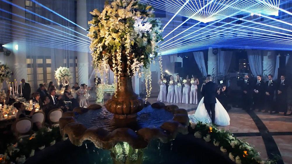 Laser-lit wedding - Hotel Colonnade, Coral Gables, Florida