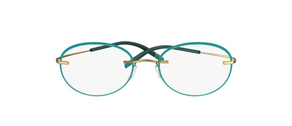 5. Silhouette TMA rimless with accent rings brass and light teal.jpg