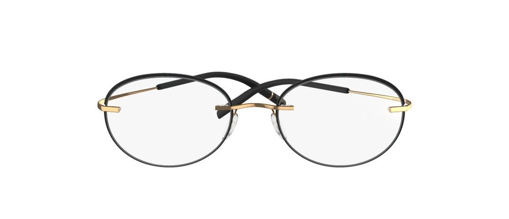 6. Silhouette TMA rimless with accent rings gold black.jpg