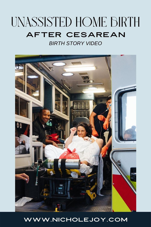 Unassisted Home Birth After Cesarean - Video — Nichole Joy