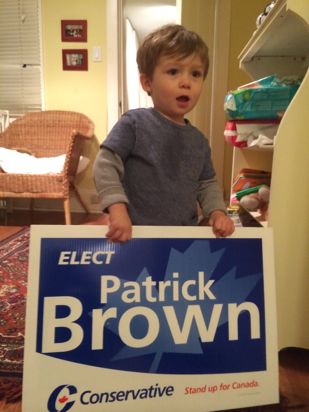 Nephew Colton was campaigning for Patrick
