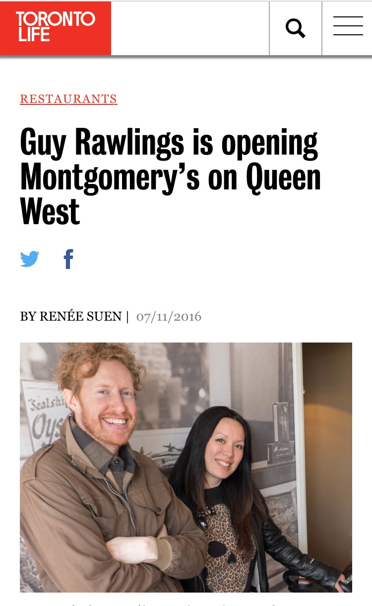 Guy Rawlings is Opening Montgomery's Restaurant