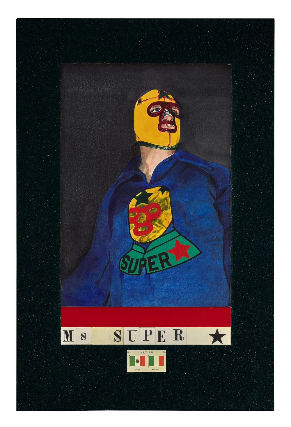 Peter Blake,  Ms Super,  1987. Courtesy Christopher Kingzett.