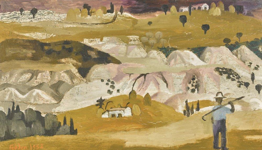 Mary Fedden,  Tuscan Landscape II , 1952.