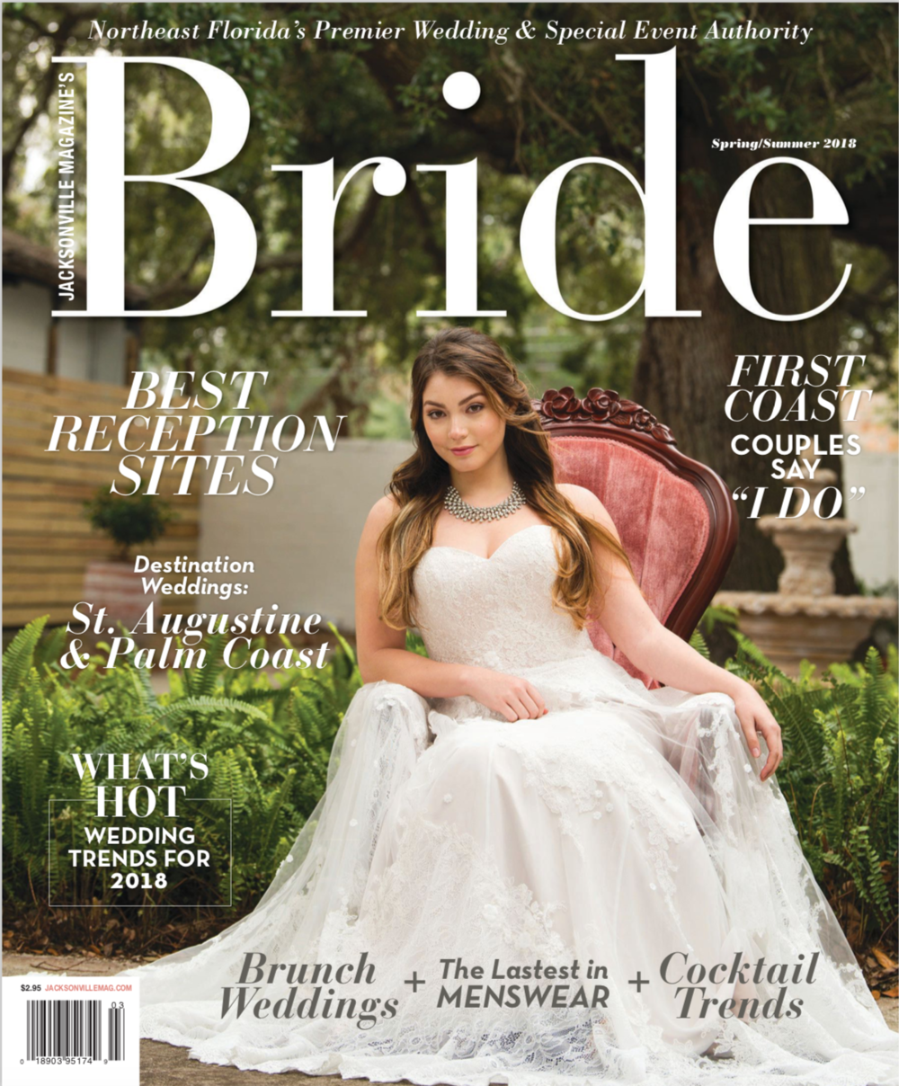 Bride Magazine | Jacksonville Magazine | 2018 | Photographer: Agnes Lopez