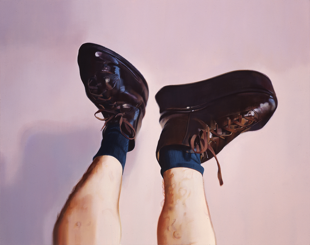 """Shoes"", Kevin Wolff, 40"" x 50"", acrylic on canvas, 1995"