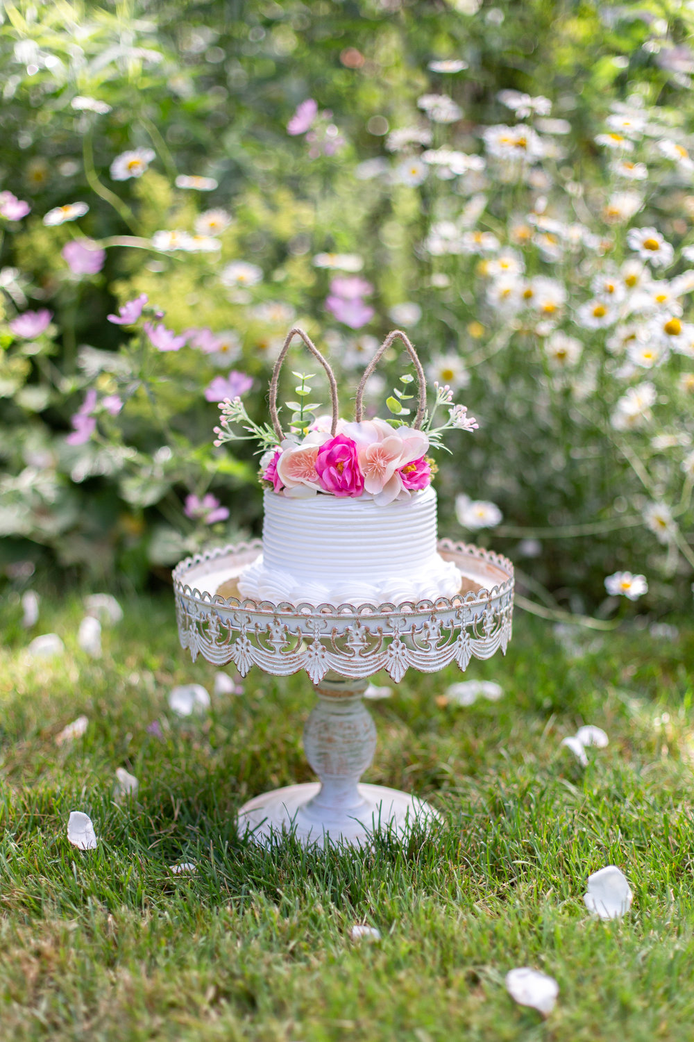 Birthday cake in Ringwood, New Jersey Botanical Garden.Photograph by Laughing Heart Photography.