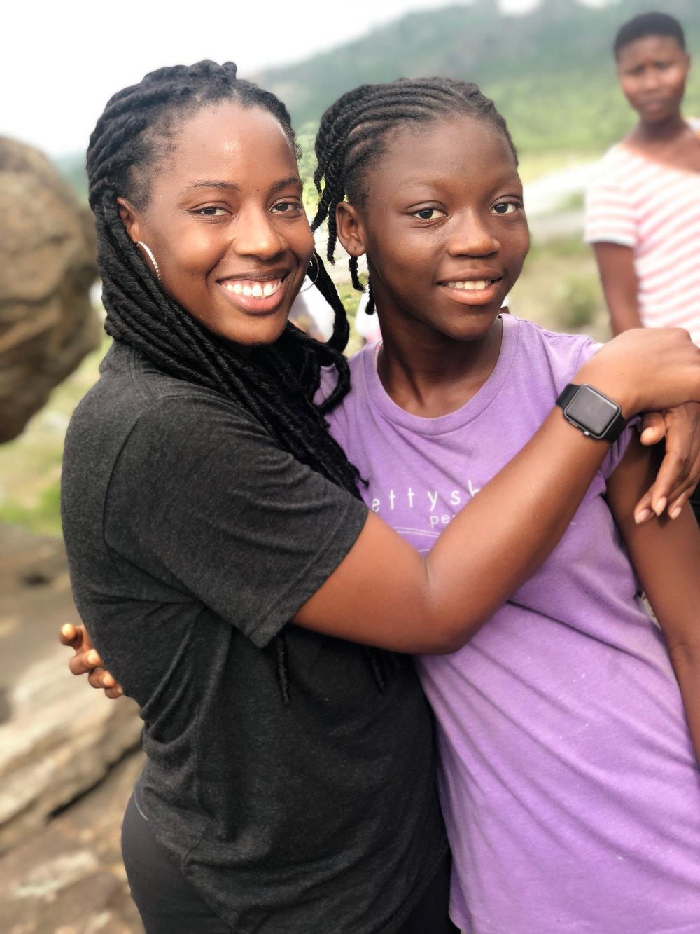 Atop Shai Hills with Hannah from CORM Ghana.