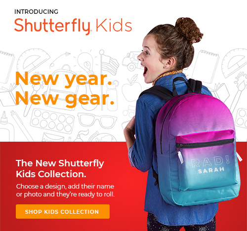Shutterfly  brand + web  + email design