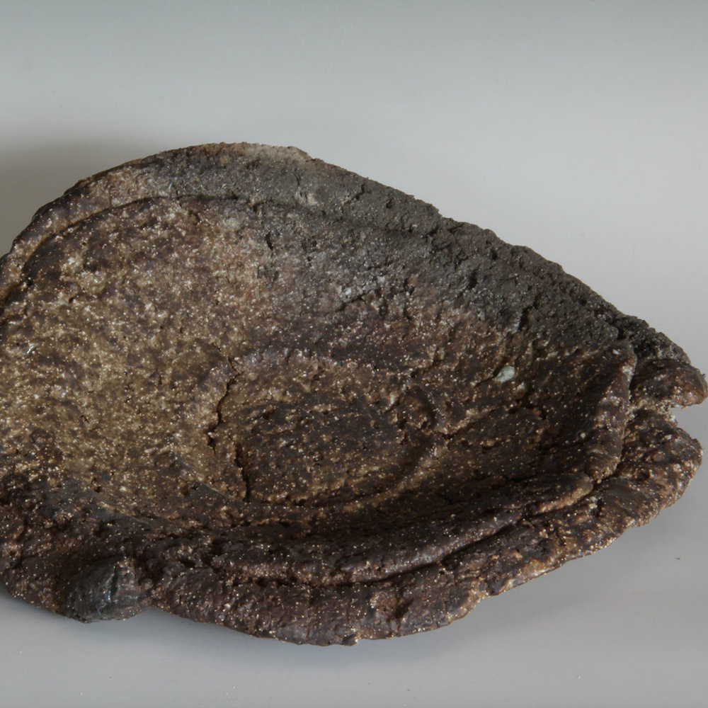 2c. Sandy Lockwood - Black Platter - woodfired and saltglazed  stoneware - 33 x 7.5cm - IMG_0415 (2).jpg