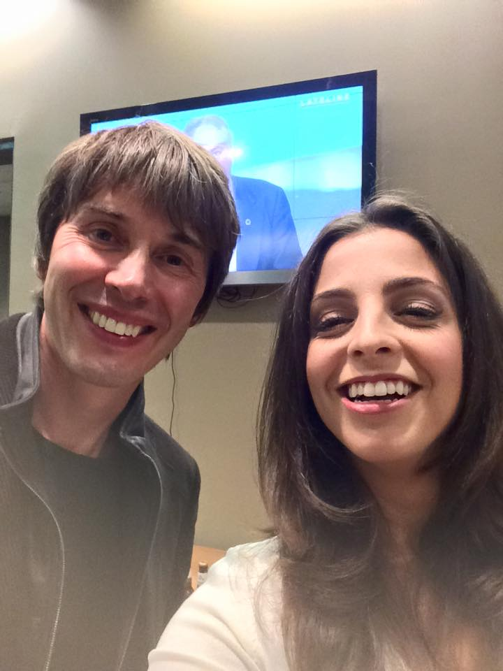 Lily met Brian Cox when they were both on Q & A (ABC)