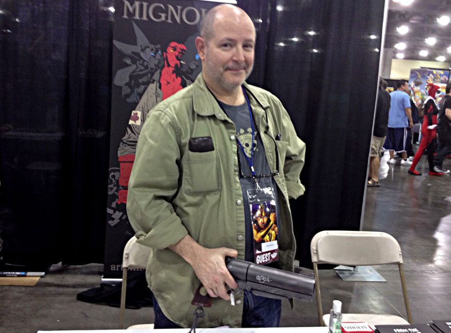 I was able to get my replica signed by Hellboy creator Mike Mignola himself at a local convention. He was nice enough to say that it was the best replica of the gun that he'd ever seen.