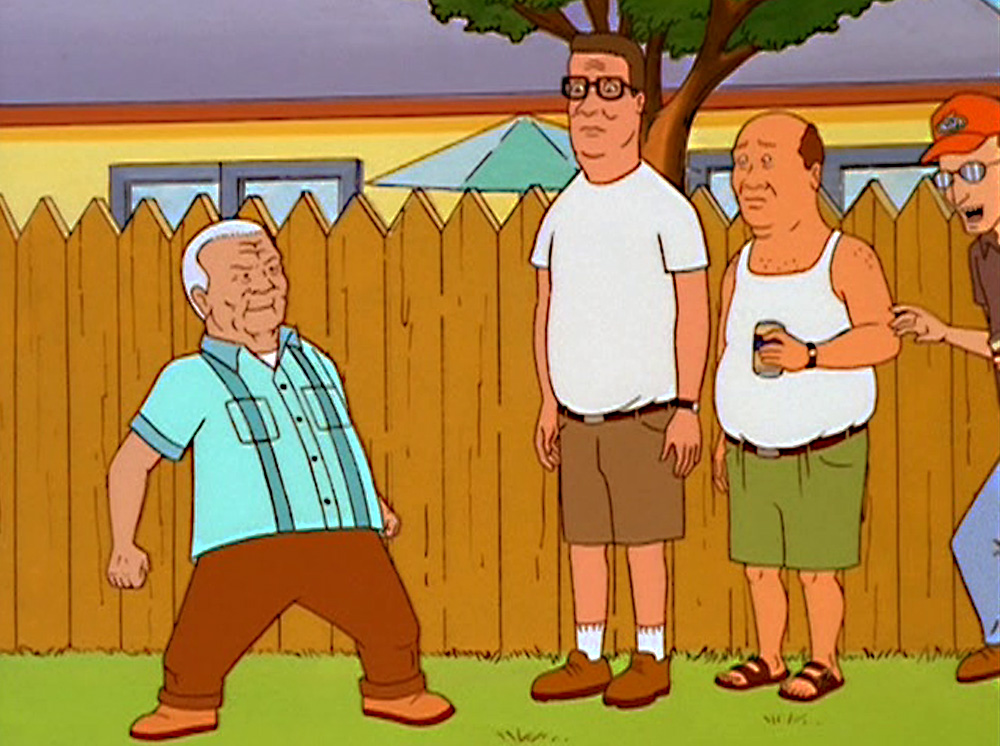 I am a huge King of the Hill fan and one of my favorite characters was Hank's father, Cotton. There was a limited run of action figures but no Cotton!