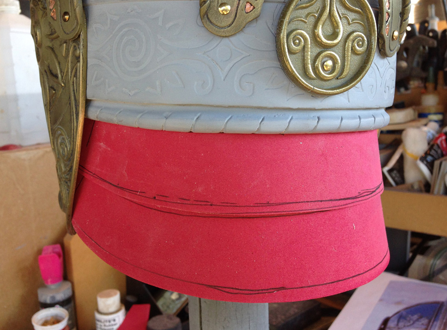 While all of the molding was going on, I used fun foam to figure out the size of the back leather armor.