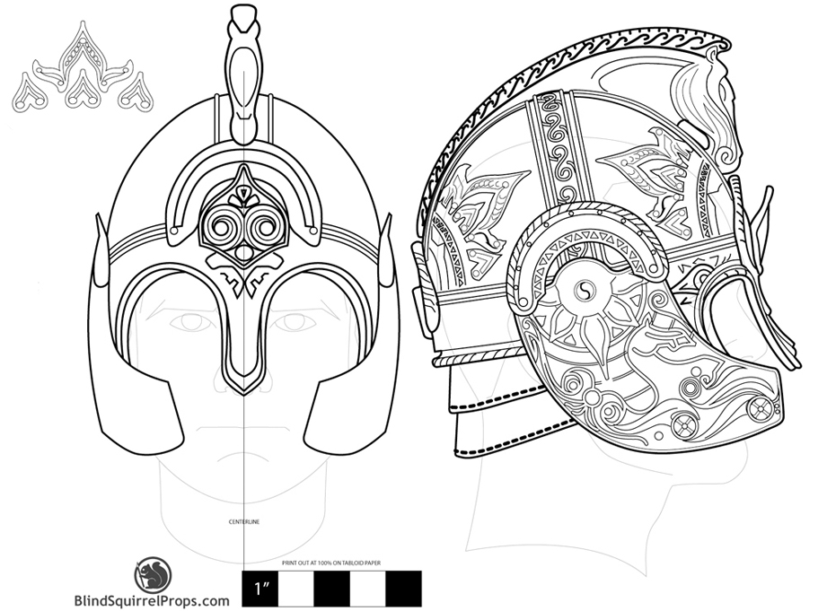 The first step was to draw out a detailed plan of the helmet. This started out pretty loose…I would continue to update this as I went or found new reference.
