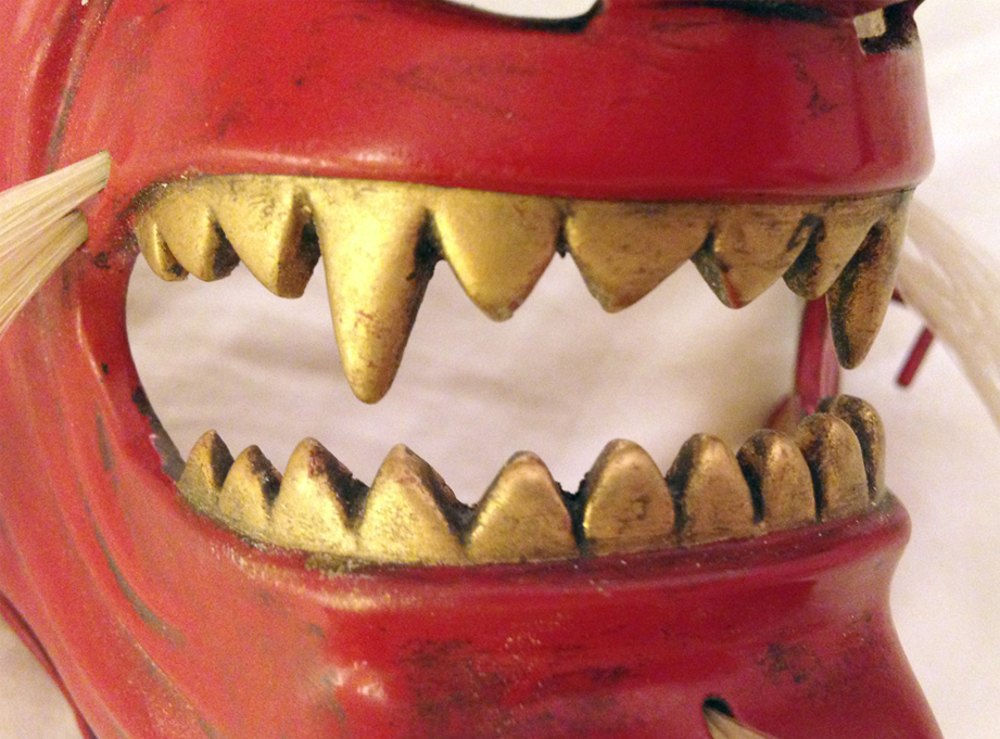 Detail of the teeth.