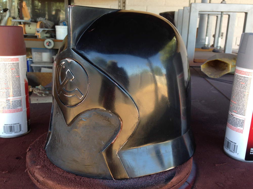 The primer was wet sanded and polished to a mirror shine in preparation for molding.