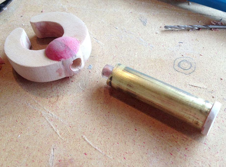 I drilled a hole in the base of the claw for the forearm peg.