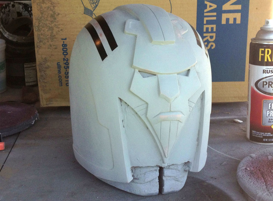 The construction is complete and the helmet is ready to mold!