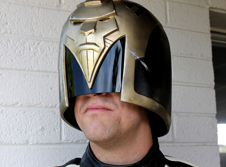 This helmet is actually quite comfortable to wear and the range of vision is much better than you would expect.