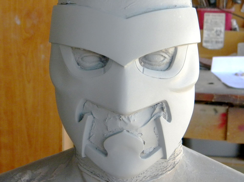 The final mask ready for molding.