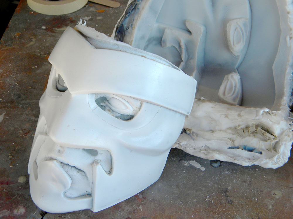 The de-molded mask! A perfect copy including my eyes and mouth.