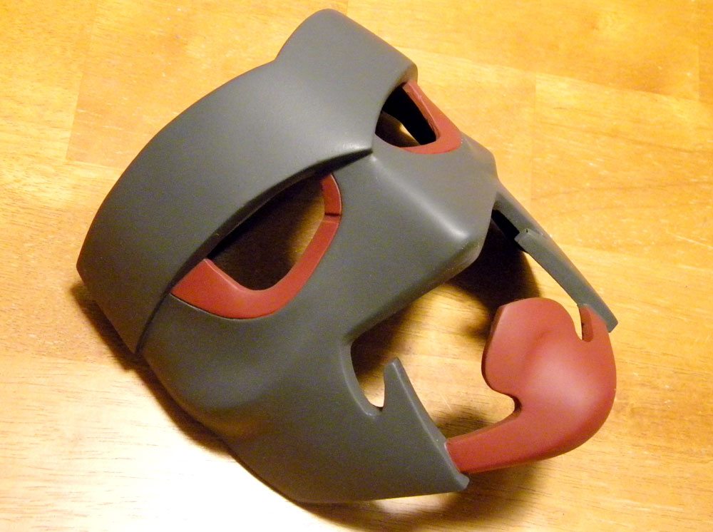 The finished full mask.