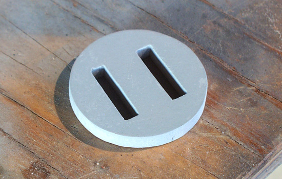 "The plug socket for the back of his head was cut from 1/4"" MDF."