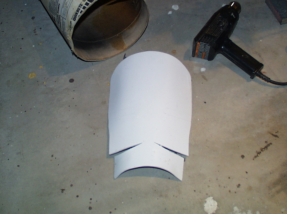 The face blast shield was made from heat-formed styrene in another tube to make the curved shape.