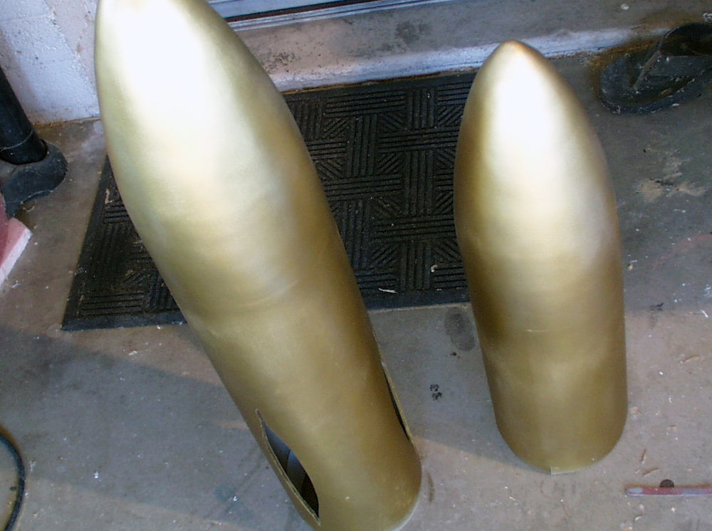 Both cone sections with a base coat of gold.