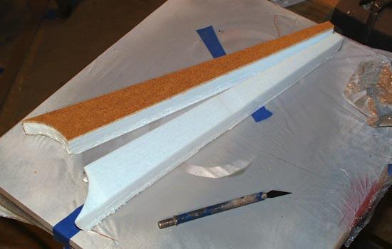 I split each piece in half in preparation to be glued.