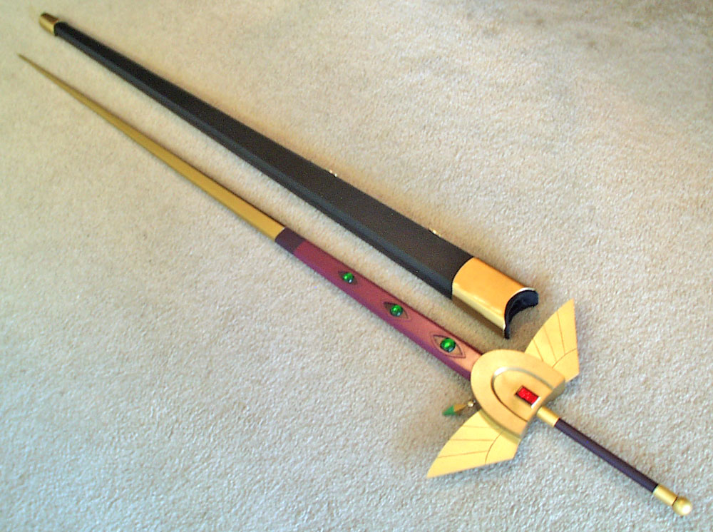 The sword outside the scabbard. The sword itself is over 5 feet long.