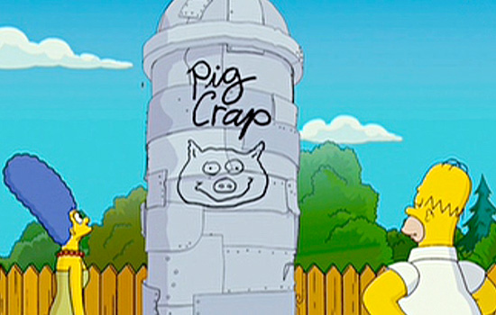 How could I resist building a model of Homer's pig crap silo in the scale of the World of Springfield figures.
