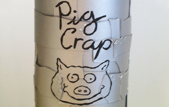 "I hand painted Homer's ""Pig Crap"" message to the front…"