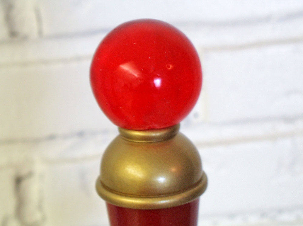 The pommel was a cast resin 2″ sphere.