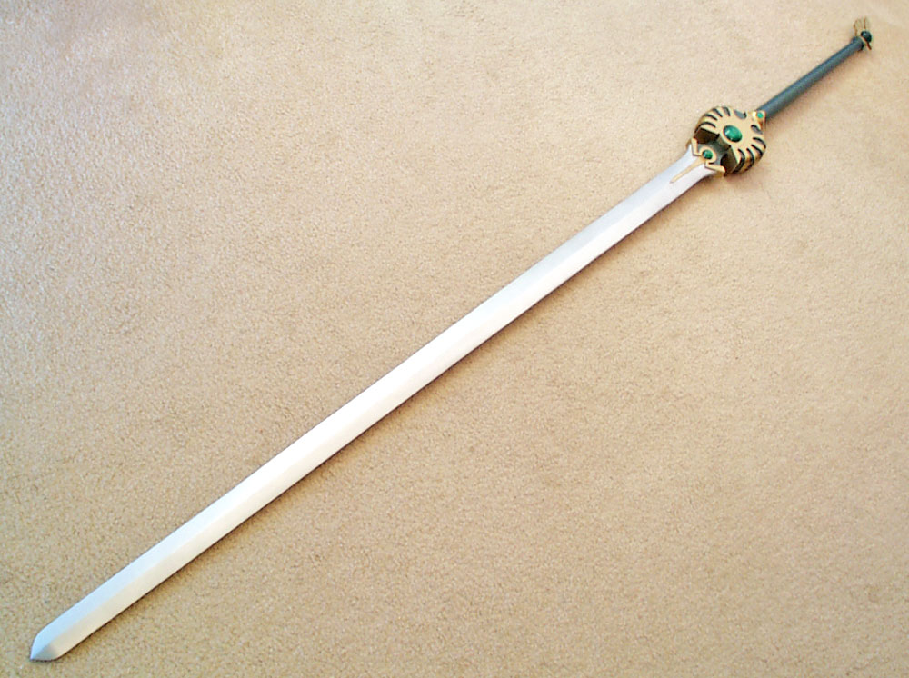 The whole sword. It measures 7 ft in total length!