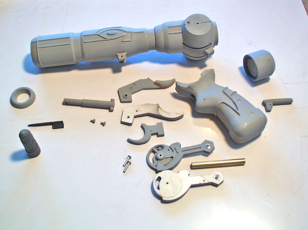 All the parts ready for molding.