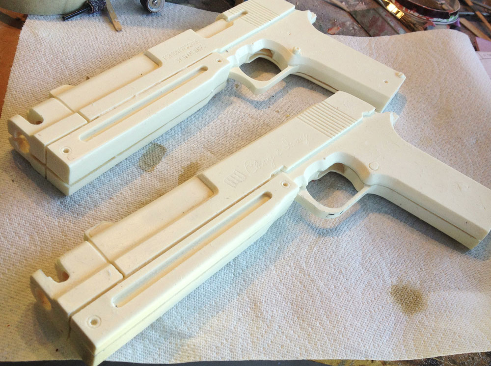Test fit of the halves.